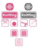 Icone del Knit illustrazione di stock