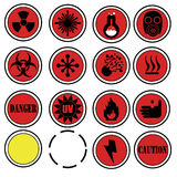 Icone del laboratorio del pericolo Fotografia Stock Libera da Diritti