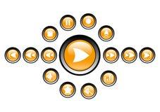 Icone del lettore multimediale Fotografia Stock