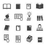 Icone del libro Immagini Stock