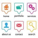 Icone del menu del sito Web Immagine Stock Libera da Diritti
