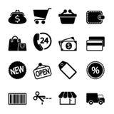 Icone del mercato messe Fotografia Stock