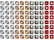 Icone del metallo Fotografia Stock