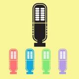 Icone del microfono con l'insieme del pastello Fotografia Stock