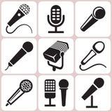 Icone del microfono messe Immagini Stock Libere da Diritti