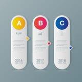 Icone del modello e di vendita di progettazione di Infographic Fotografie Stock