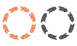 Icone del mosaico di circolazione del pixel illustrazione vettoriale
