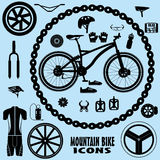 Icone del mountain bike Immagine Stock