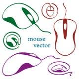 Icone del mouse del calcolatore Fotografie Stock