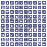 100 icone del mulino hanno messo lo zaffiro di lerciume Fotografie Stock