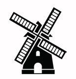 Icone del mulino a vento Fotografia Stock