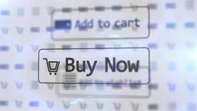 Icone del negozio di Internet su uno schermo bianco vago Immagini Stock Libere da Diritti