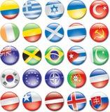 Icone del paese Fotografia Stock