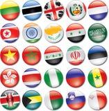 Icone del paese Fotografia Stock Libera da Diritti