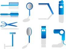 Icone del parrucchiere Fotografia Stock