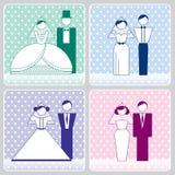Icone del pastello di nozze Immagini Stock