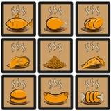Icone del pasto messe Immagini Stock