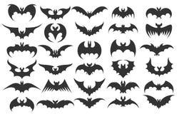 Icone del pipistrello di Halloween royalty illustrazione gratis