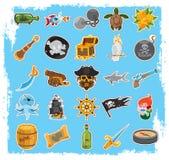 Icone del pirata fotografia stock