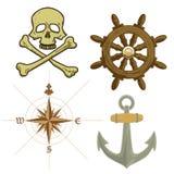 Icone del pirata Immagini Stock Libere da Diritti