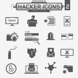 Icone del pirata informatico Immagine Stock Libera da Diritti