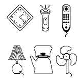 Icone del pixel illustrazione di stock