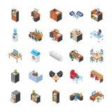 Icone del posto di lavoro dell'ufficio illustrazione vettoriale