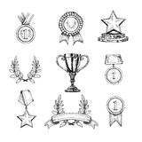 Icone del premio impostate Immagine Stock