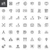 Icone del profilo degli elementi di ingegneria messe illustrazione vettoriale