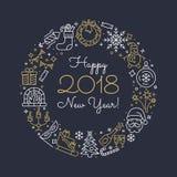 Icone del profilo del nuovo anno Fotografia Stock