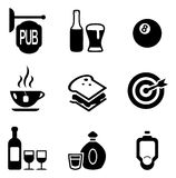 Icone del pub Immagini Stock