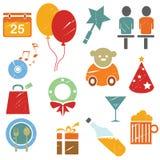 Icone del regalo Immagini Stock