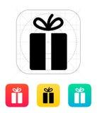 Icone del regalo su fondo bianco. illustrazione di stock