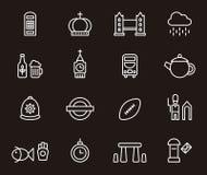Icone del Regno Unito Fotografia Stock