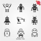 Icone del robot Immagini Stock
