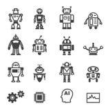 Icone del robot Fotografie Stock Libere da Diritti