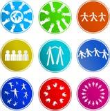 Icone del segno di lavoro di squadra illustrazione vettoriale