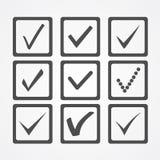 Icone del segno di spunta Immagini Stock
