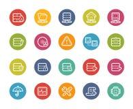 Icone del server e della rete -- Serie di Printemps Immagini Stock