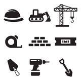 Icone del sito dei costruttori Fotografia Stock