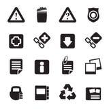 Icone del sito Web e del computer della siluetta Immagine Stock