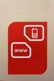 Icone del sito Web e di numero Fotografie Stock