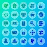 Icone del solido del cerchio di Bitcoin Immagine Stock Libera da Diritti