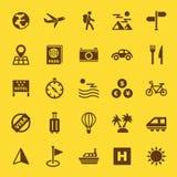 Icone del solido di viaggio Fotografia Stock