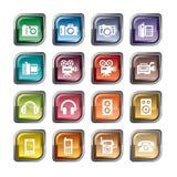 Icone del suono e di fotografia illustrazione di stock