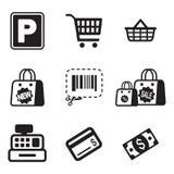 Icone del supermercato Fotografia Stock