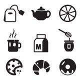 Icone del tè Fotografia Stock