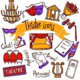 Icone del teatro messe Immagine Stock