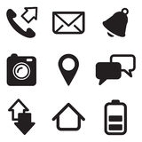 Icone del telefono cellulare Immagini Stock Libere da Diritti