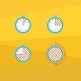 Icone del temporizzatore di colore royalty illustrazione gratis